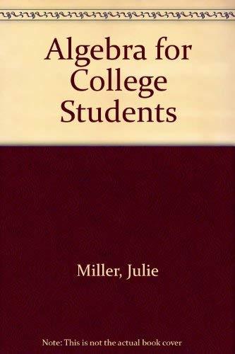 9780072880564: Algebra for College Students