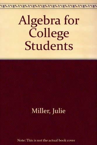 9780072880564: Algebra for College Students