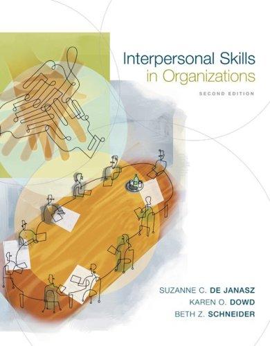 9780072881394: Interpersonal Skills in Organizations
