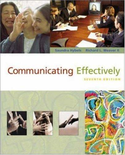 9780072881653: Communicating Effectively