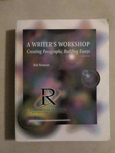 9780072882247: A Writer's Workshop: Crafting Paragraphs, Building Essays