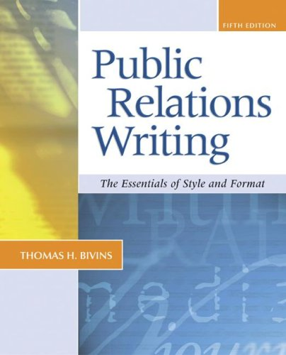 9780072882568: Public Relations Writing: The Essentials of Style and Format (NAI)