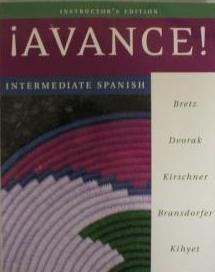 9780072882834: Avance: Intermediate Spanish (English and Spanish Edition)