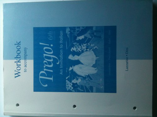 9780072883725: Prego! An Invitation to Italian (Workbook)