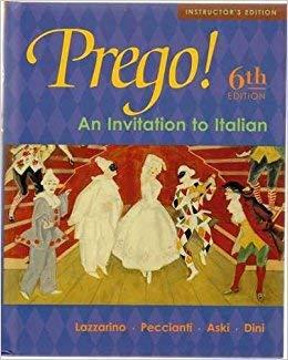 9780072883732: Prego! Instructor's Edition: An Invitation to Italian