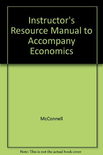 9780072884777: Instructor's Resource Manual to Accompany Economics