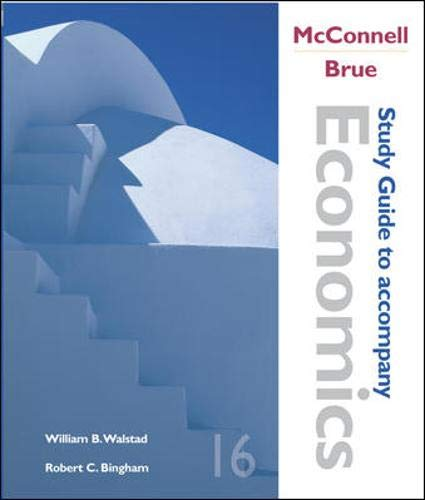 9780072884807: Study Guide to accompany McConnell and Brue Economics