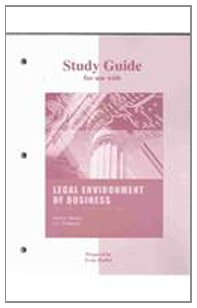 9780072885422: Study Guide to accompany Legal Environment of Business in the Information Age