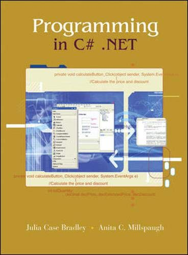 9780072886252: Programming C# .NET w/Student CD & 5-CD C# .NET software