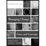 9780072887044: Managing Change: Cases and Concepts