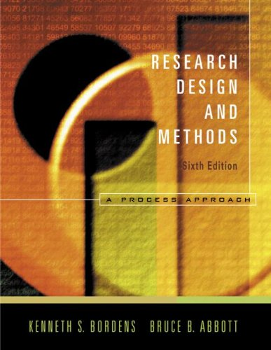 9780072887648: Research Design and Methods: A Process Approach