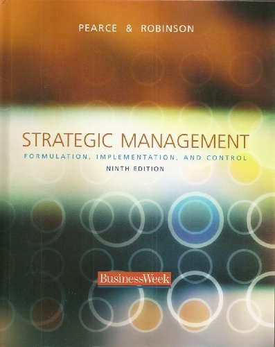 9780072890242: Strategic Management: Formulation, Implementation, and Control