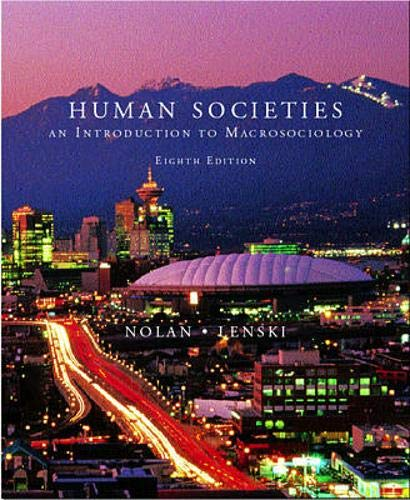 9780072891324: Human Societies: An Introduction to Macrosociology