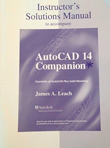 9780072891775: Instructor's Manual: Im Autocad 14 Companion