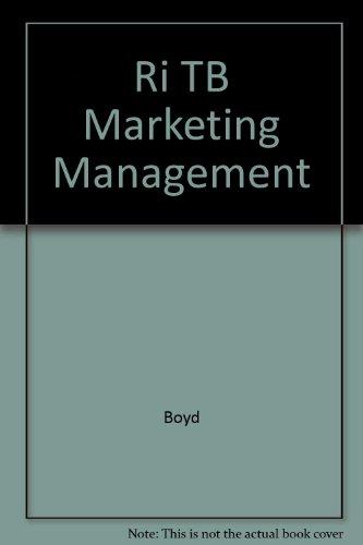 9780072892871: Ri TB Marketing Management