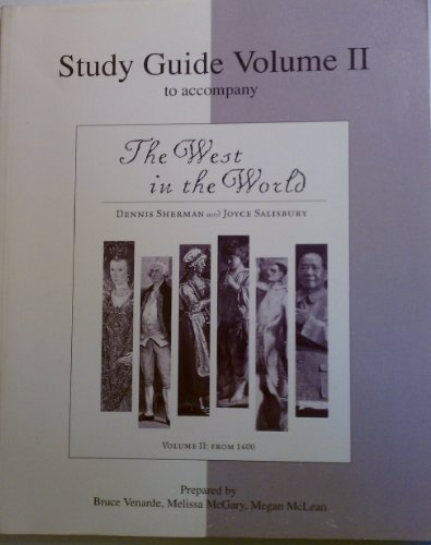 9780072895421: Study Guide Vol. II for use with The West in the World Vol. II