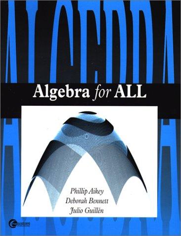 9780072895483: Algebra for All