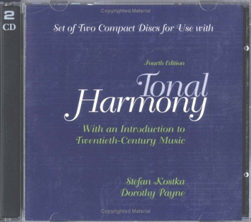 9780072897852: Audio CDs For Use with Tonal Harmony With An Introduction to Twentieth-Century Music