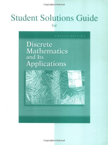 9780072899061: Student's Solutions Guide to accompany Discrete Mathematics and Its Applications