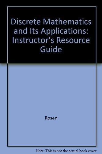9780072899078: Discrete Mathematics: Instructors Manual