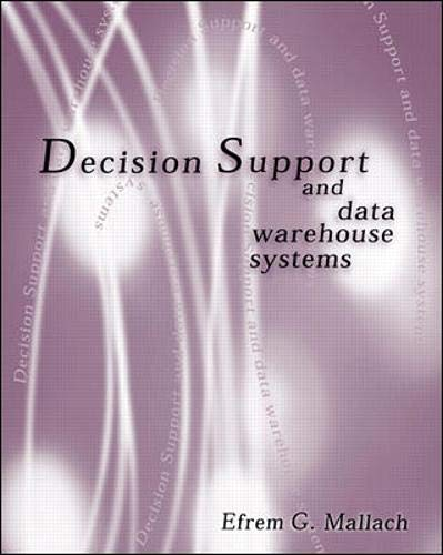 9780072899818: Decision Support and Data Warehouse Systems