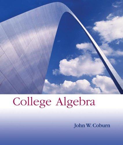 9780072901191: College Algebra