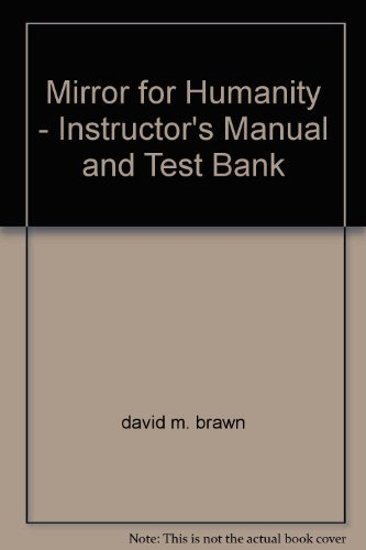 9780072901726: Mirror for Humanity - Instructor's Manual and Test Bank