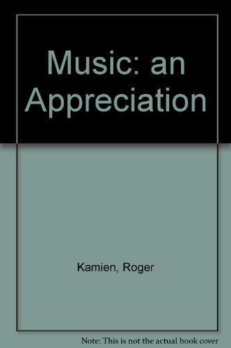 9780072902051: Student Study Guide for use with Music: An Appreciation