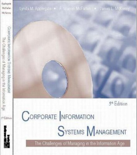 9780072902822: Corporate Information Systems Management:  The Challenges of Managing in an Information Age  (Paperback version)