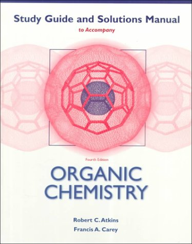 9780072905106: Organic Chemistry: (Student Study Guide/Solutions Manual)