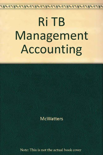 9780072908244: Ri TB Management Accounting