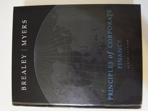 9780072909999: Principles of Corporate Finance,  6th Edition (The Irwin/McGraw-Hill Series in Finance, Insurance, and Real Estate)