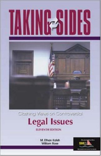 9780072917154: Taking Sides: Clashing Views on Controversial Legal Issues (Taking Sides)