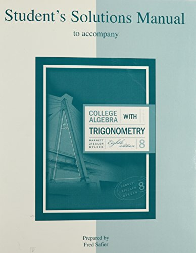 9780072917697: College Algebra With Trigonometry Student Solutions Manual