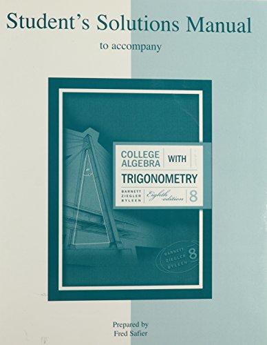 College Algebra With Trigonometry Barnett Pdf Linoawrite