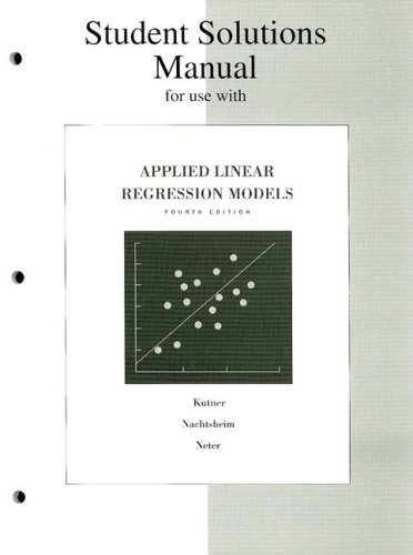 student solutions manual for applied linear regression models fourth rh abebooks com Student Solutions Manual Digital Designs Chegg Solution Manual