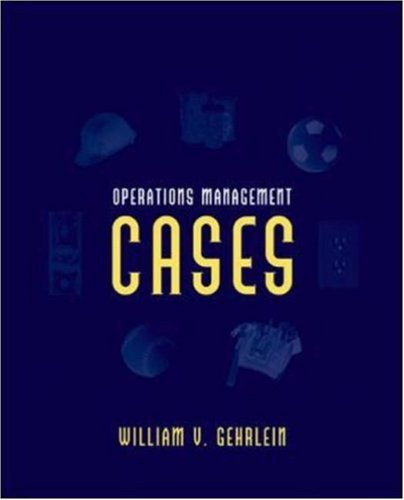 9780072918663: Operations Management Cases