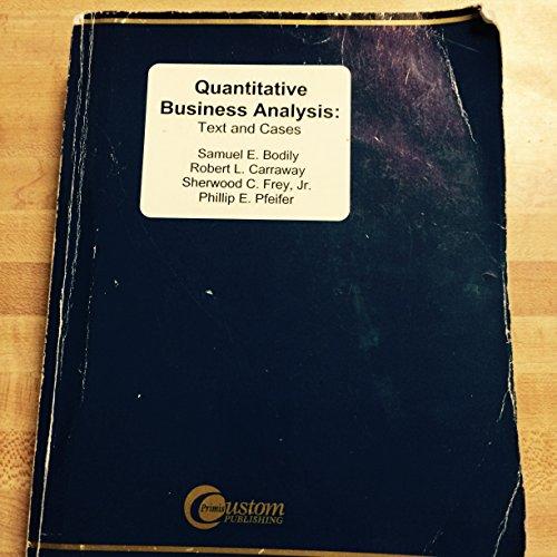 9780072918687: Quantitative Business Analysis