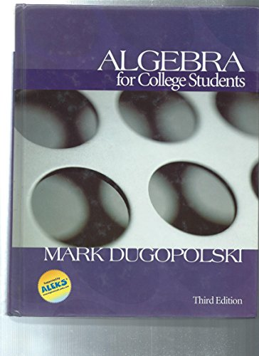 9780072918861: Algebra for College Students