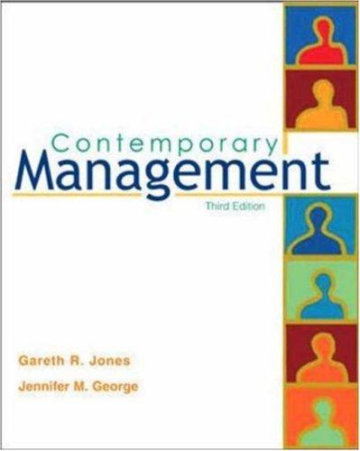 Contemporary Management, with CD: Gareth R Jones,