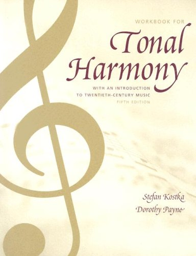 9780072918960: Tonal Harmony Wkbk with Wkbk Audio CD and Finale CD-ROM
