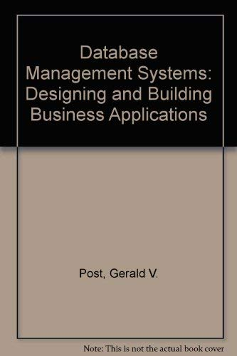 9780072919196: Database Management Systems: Designing and Building Business Applications