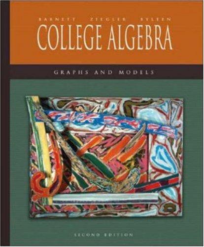 9780072922356: Mandatory Package: College Algebra: Graphs and Models w/ MathZone