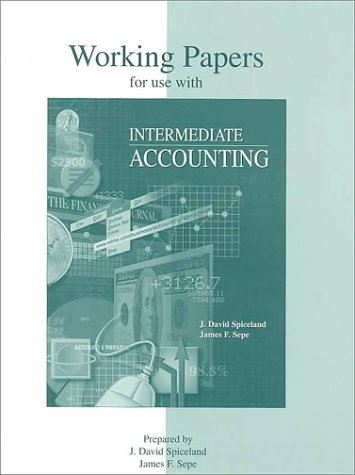 9780072925517: Working Papers To Accompany Intermediate Accounting
