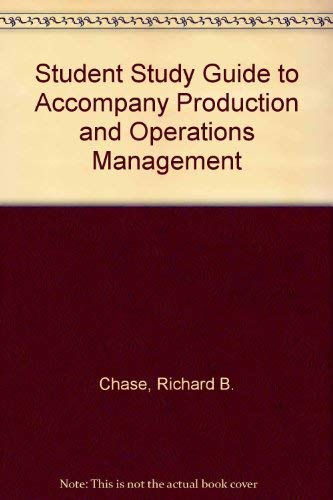 9780072927375: Study Guide for Use With Production and Operations Management: Manufacturing and Services