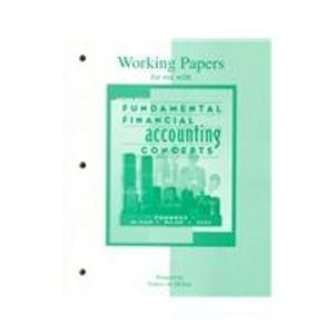9780072929324: Working Papers for Use With Fundamental Financial Accounting Concepts