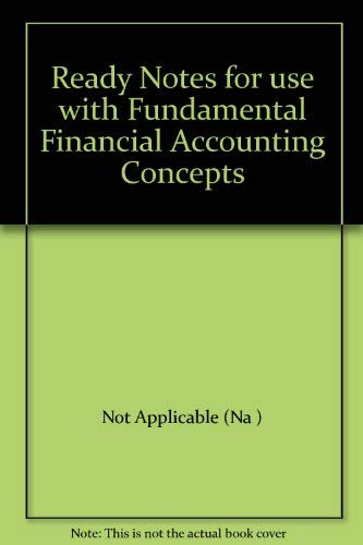 9780072929331: Ready Notes for use with Fundamental Financial Accounting Concepts