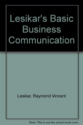 9780072929904: Title: Lesikars Basic Business Communication
