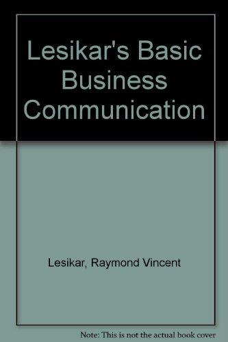 9780072929904: Title: Lesikars Basic Business Communication