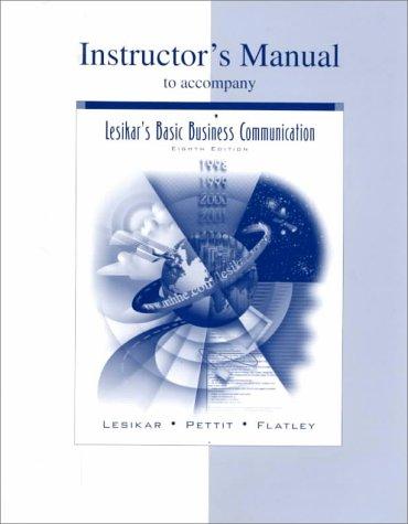 9780072929911: Lesikar's Basic Business Communication